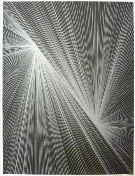 Lothar Götz 'Mirror Image' (802–13) unique lithograph from a series of 34 variant monoprints, each: 59×44.5cm on Munken Pure, 2015), Courtesy of Domobaal