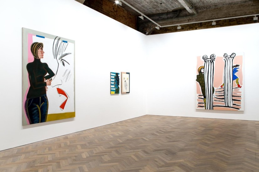 Ella Kruglyanskaya, Fancy Problems, installation view, Thomas Dane Gallery, London, 2015. Courtesy the artist and Thomas Dane Gallery, London.