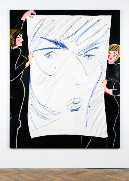 Ella Kruglyanskaya, Puppeteers with a Big Face, 2015. Image courtesy the artist and Thomas Dane Gallery, London.