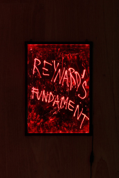 Matt Copson, Reynard's Fundament, installation view, Tramps, London, 2015. Image courtesy the artist and Tramps.