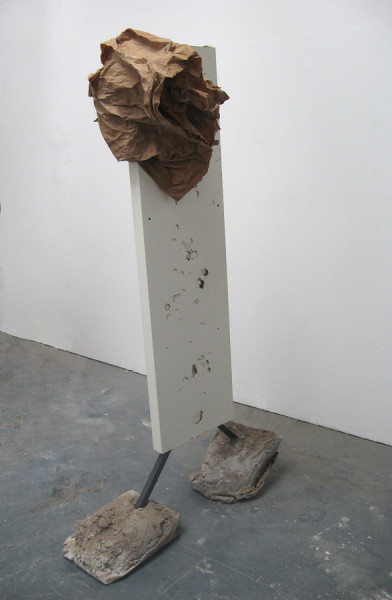 Bag, mixed media, 170 x 40 x 80cm, 2011. Image courtesy the artist, © the artist