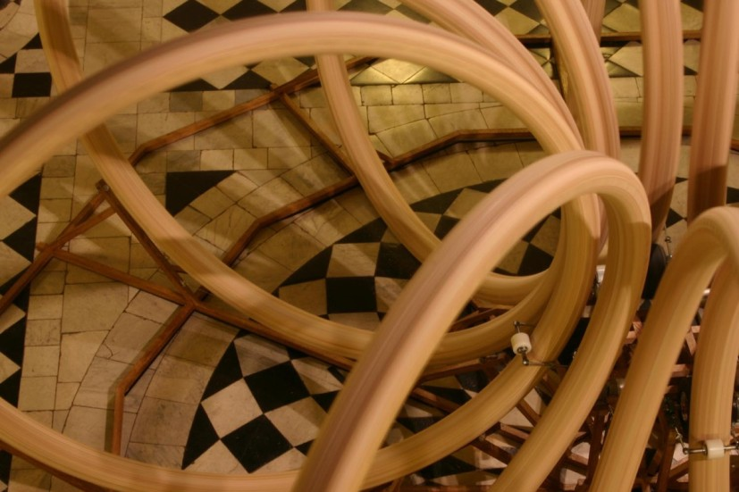 Conrad Shawcross, Continuum, detail of the piece in situ in the Queen's House (18 December 2004– 6 February 2005). Image courtesy of the artist and Victoria Miro, London