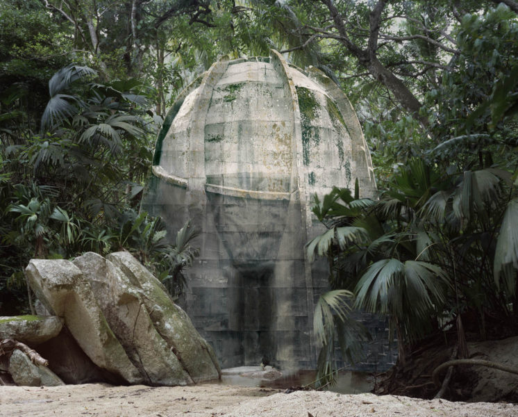 Noémie Goudal, Satellite I, 2014, Lambda print, 168 x 210cm, Edition 2/5. © the artist, courtesy Edel Assanti, London.