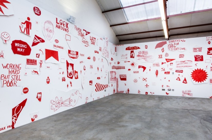 Michael Landy, 'Breaking News' (2015) installation view. Image courtesy the artist and Thomas Dane Gallery, London.
