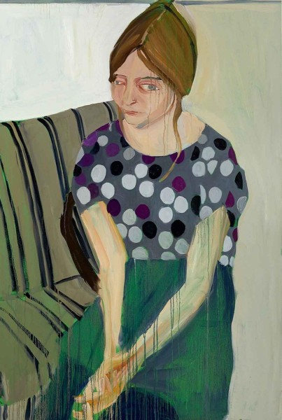Chantal Joffe, Megan in Spotted Silk Blouse, 2014, Courtesy the artist and Victoria Miro, London
