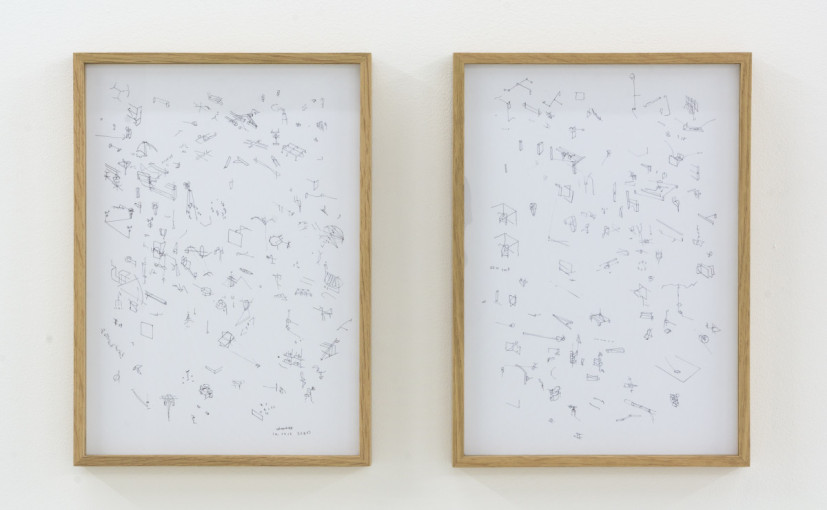 Richard Rigg, Untitled, 2015, ink on paper (diptych), 29.7 x 42cm. Image courtesy the artist and Workplace London.