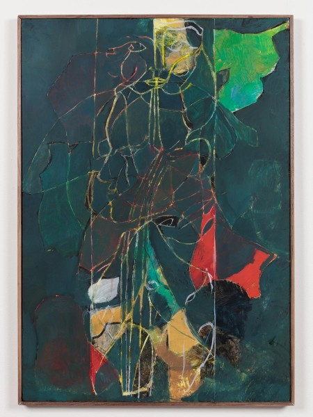 Nicholas Byrne, Screen drawing, oil on gessoed panel with artists frame, 100 x 70 x 2cm, 2015. Image courtesy the artist and Vilma Gold, London. Photo: Mark Blower.