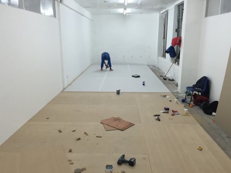 Studio shot of Jesse Wine's Princes House commission in production