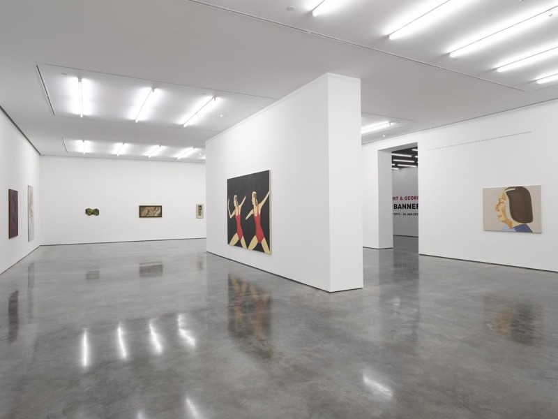 'Tightrope Walk: Painted Images After Abstraction', installation view, North & South Galleries, White Cube Bermondsey, 25 November 2015 - 24 January 2016. Photo © White Cube (George Darrell)