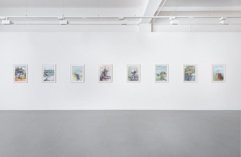 Sabine Moritz: Harvest, installation view, Pilar Corrias Gallery, London (20 November 2015 - 18 February 2016). Image courtesy the artist and Pilar Corrias Gallery. Photograph: Damian Griffiths.