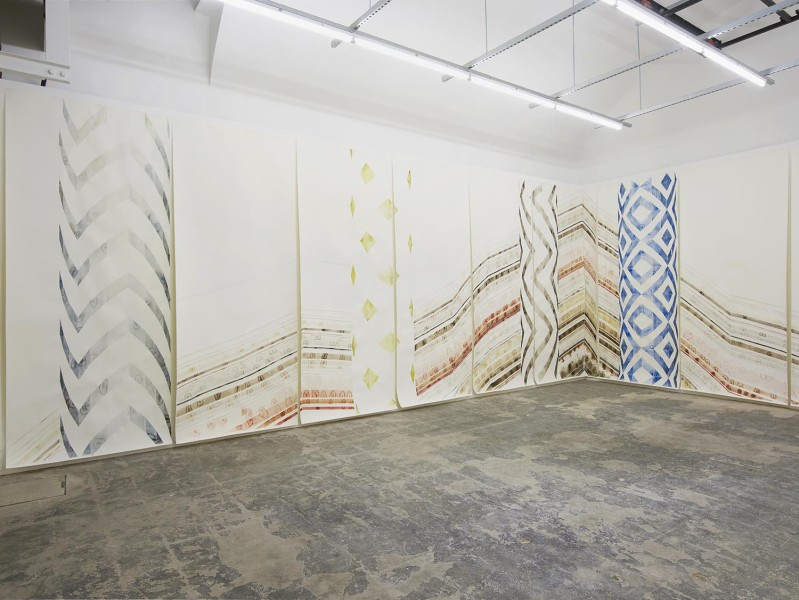 Claire Hooper, Clay as Bread and Dust as Wine, installation view, Hollybush Gardens, 2016. Courtesy the artist and Hollybush Gardens. Photo: Andy Keate.