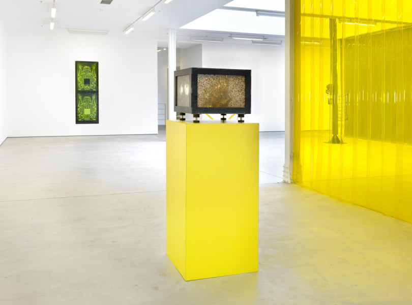 Steven Claydon, The Gilded Bough, installation view, Sadie Coles HQ, London, 2016. © the artist, image courtesy Sadie Coles HQ, London. Photograph: Todd White, London.