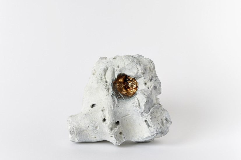Stonut, bronze & crisp bag, 21 x 20 x 14cm, edition of 3, 2008. Image courtesy the artist. © the artist