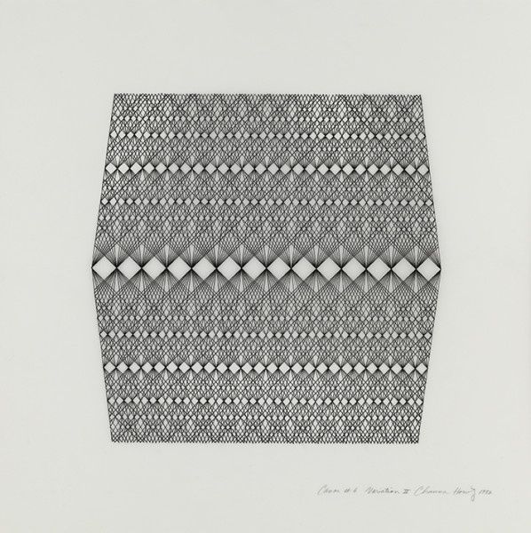 Channa Horwitz, 'Canon 6 Variation II', 1982, Ink on mylar. Courtesy Collection Oehmen, Germany. Photo by Timo Ohler