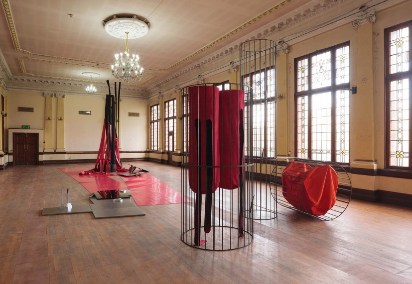 Claire Barclay, installation view at Glasgow International Festival, 2016. Photo: © Ruth Clark