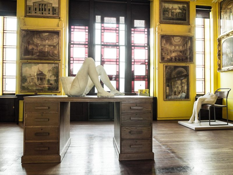 Sarah Lucas, POWER IN WOMAN, Sir John Soane's Museum London, 10 March – 21 May 2016. Copyright the artist, courtesy Sadie Coles HQ, London and Sir John Soane's Museum, London. Photo: Julian Simmons
