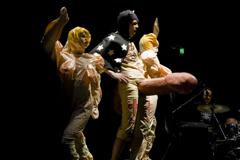 Tai Shani, Empire and Daughter Isotope, 2009, performance. Spike Island, Bristol. Image courtesy the artist