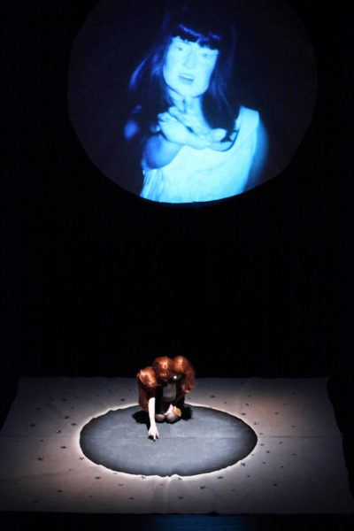 Tai Shani, Visions of Frozen Hell, 2012, performance. Arnolfini, Bristol. Image courtesy the artist