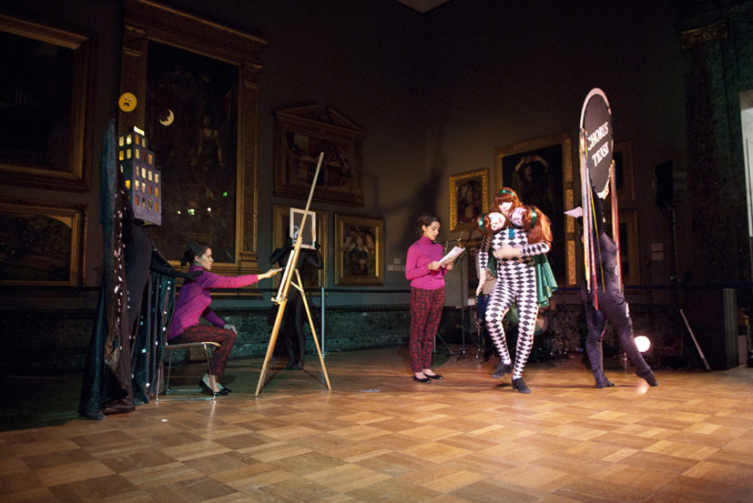 Tai Shani, The 144th Collapse of the Double Life Flexing Surface, 2011, performance. Tate Britain. Image courtesy the artist