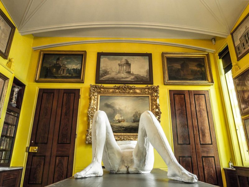 sarah lucas power in woman at sir john soane s museum. Black Bedroom Furniture Sets. Home Design Ideas