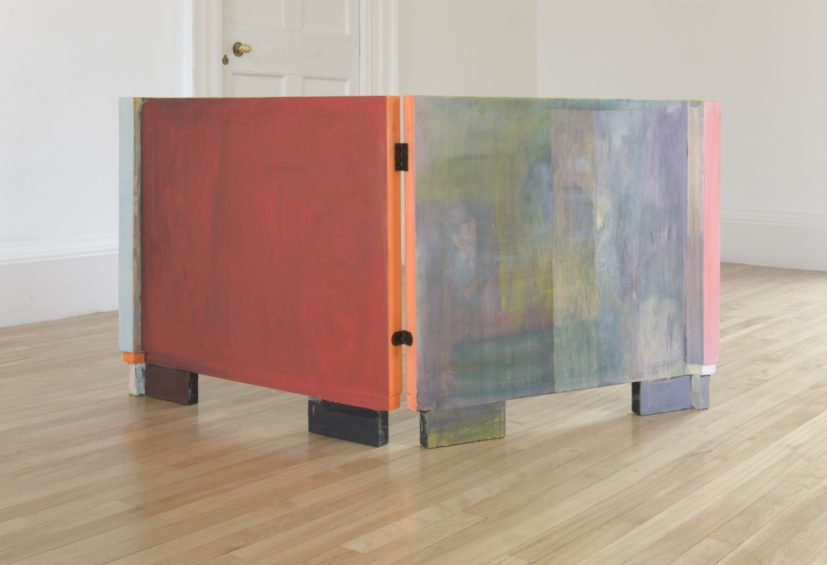 Victoria Morton, Untitled, 2010. Oil paint on wooden panels (2 panels each), 76.5 x 83 cm. Courtesy the artist.