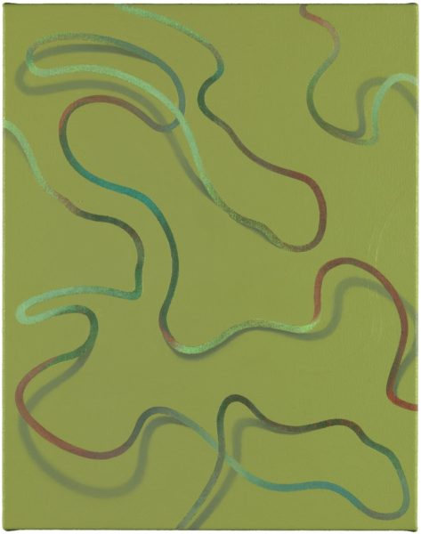 Tomma Abts, Lüür, acrylic and oil on canvas, 48 × 38cm, 2015. Photo: Marcus Leith. Courtesy of greengrassi, London.