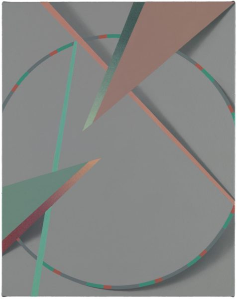 Tomma Abts, Lya, acrylic and oil on canvas, 48 × 38cm, 2015. Photo: Marcus Leith. Courtesy of greengrassi, London.
