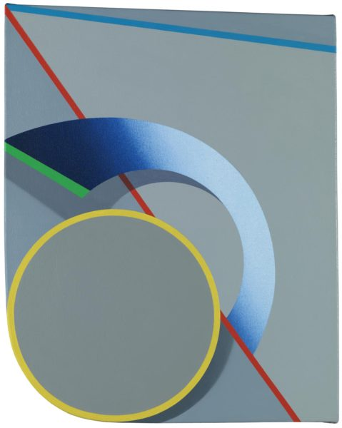 Tomma Abts, Oeje, acrylic and oil on canvas, 48 × 38cm, 2016. Photo: Marcus Leith. Courtesy of greengrassi, London.