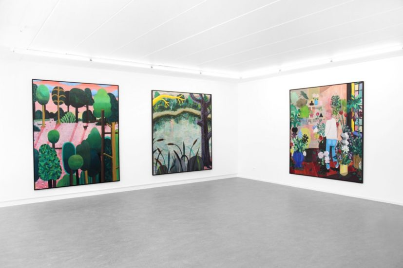 Installation view of Ben Sledsens: Pulling Ropes and Ringing Bells at Tim Van Laere Gallery