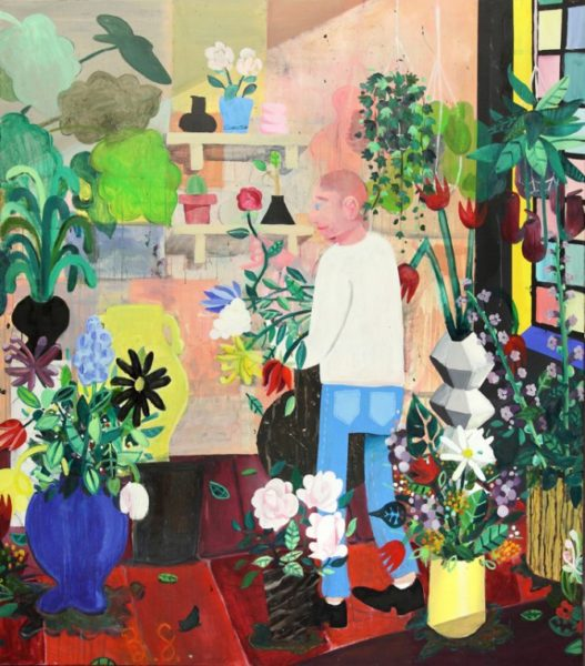 Ben Sledsens, The Flowerstore, 2015. 200 x 170 cm, oil, acrylic, spray paint on canvas. Courtesy of the artist and Tim Van Laere Gallery