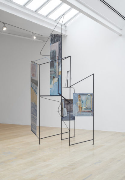 Sara Barker, metamorphosis of friends disappeared subtle structures, 2016. Aluminium sheet, steel rod & bar, perspex, brass rod, automotive paint. Courtesy the artist; Mary Mary, Glasgow; carlier   gebauer, Berlin; The Approach, London. Photo: Max Slaven.