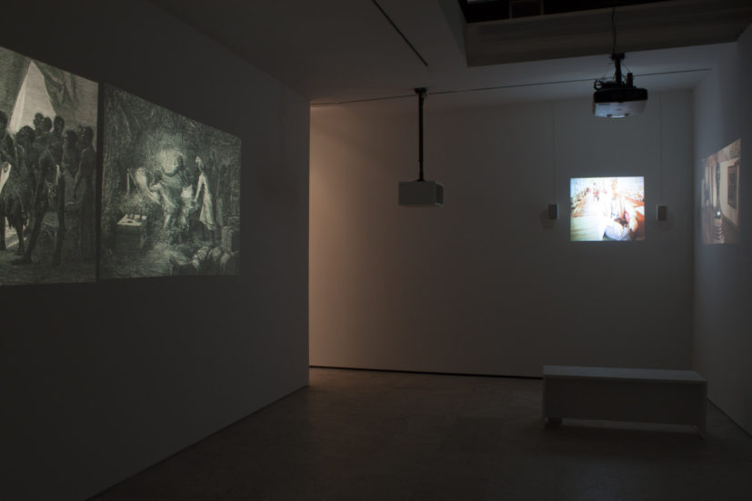 Kader Attia, Dispossession, 2013. Double slide, single slide, and video projection, color, sound. Slide duration: 13 minutes. Video duration: 6 minutes, 43 seconds. Edition of 3. Courtesy the artist and Lehmann Maupin, New York and Hong Kong