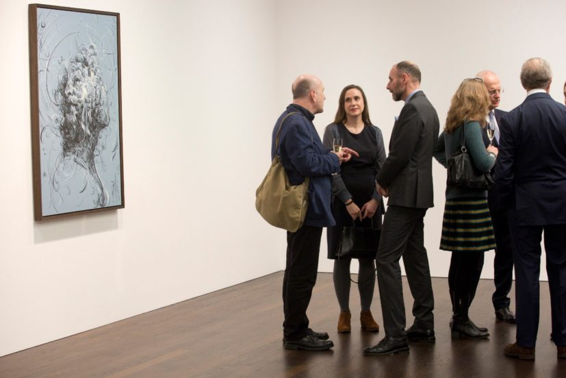 Announcement of the acquisition of Glenn Brown's work at Gagosian Gallery, London. Photo: Belinda Lawley