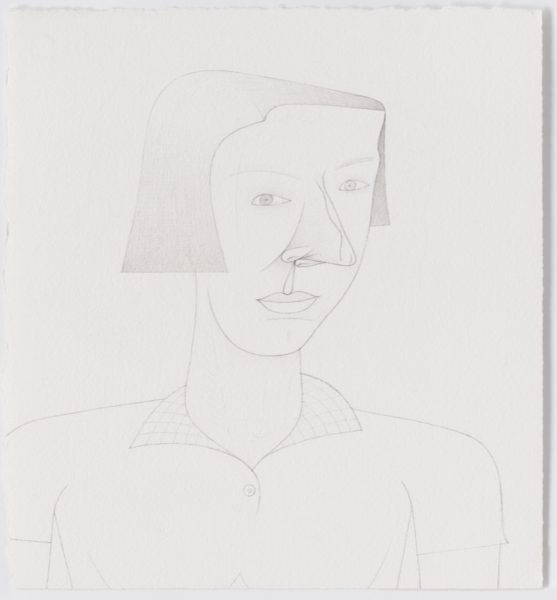Jim Nutt, Untitled, 2016. Graphite on paper, 38.7 x 35.6 cm. Courtesy of the artist and Cabinet Gallery