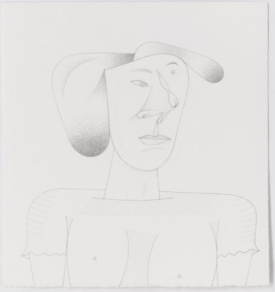 Jim Nutt, Untitled, 2016. Graphite on paper, 40.6 x 38.4 cm. Courtesy of the artist and Cabinet Gallery