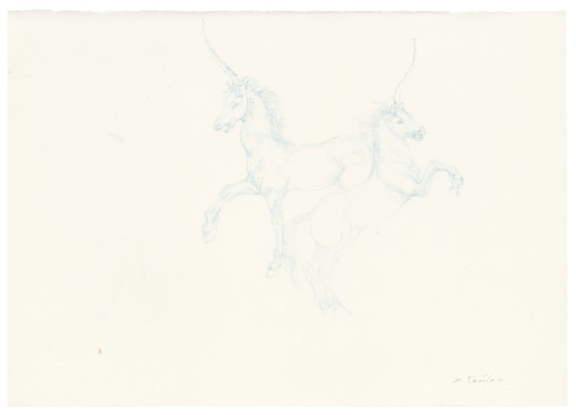 Christiana Soulou, Sky Blue Licorne Horses, 2014, Copyright the artist, courtesy Sadie Coles HQ, London