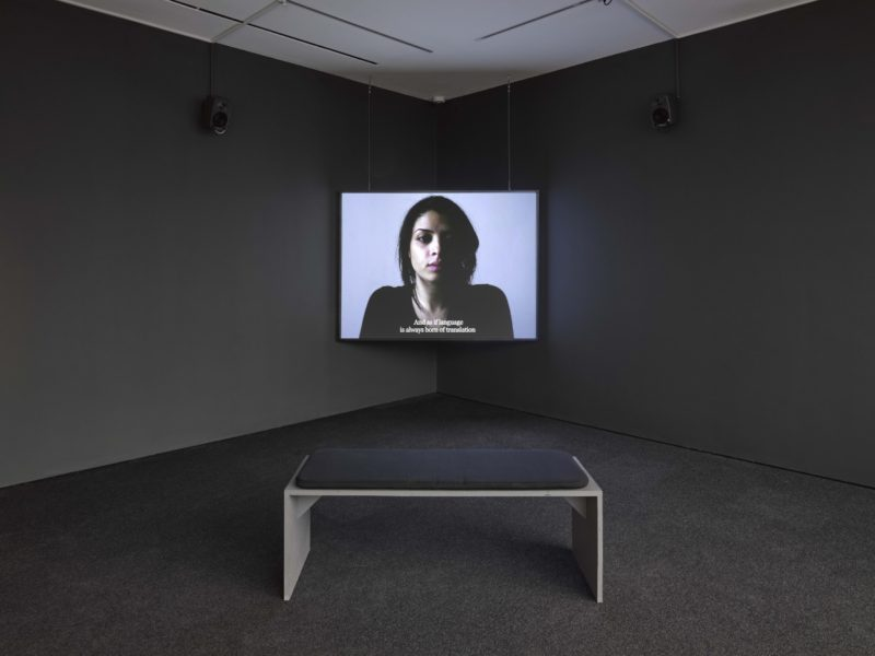 Bouchra Khalili, Installation view, Lisson Gallery London, January 2017. Photo by Jack Hems