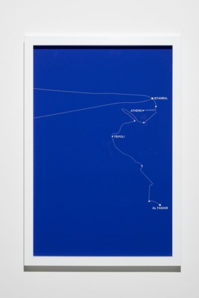 Bouchra Khalili, The Constellations Series, Fig. 8, 2011