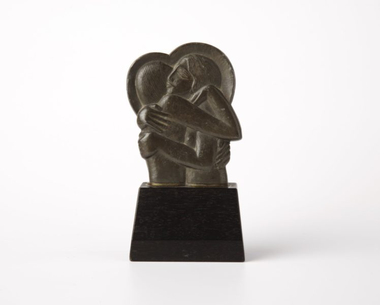 Eric Gill, Icon (for Divine Lovers), 1923. Pewter, 12.5 x 6.5 x 3.8 cm. Courtesy of the Ditchling Museum of Art + Craft