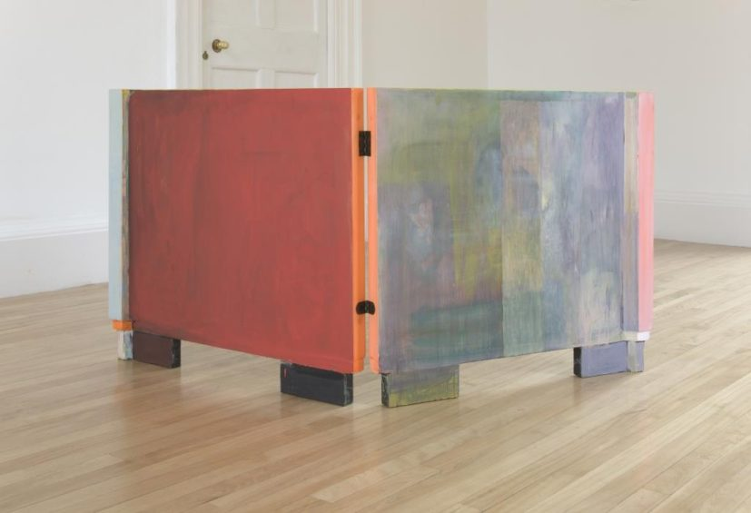 Victoria Morton, Untitled, 2010, Oil paint on wooden panels (2 panels each), 76.5 x 83 cm. Courtesy the artist and The Modern Institute/ Toby Webster Ltd, Glasgow.