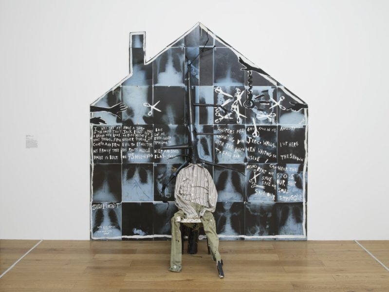 Donald Rodney, The House That Jack Built, 1987. Exhibition view, The Place Is Here, Nottingham Contemporary, 2017. Courtesy of Museums Sheffield. Photo Andy Keate