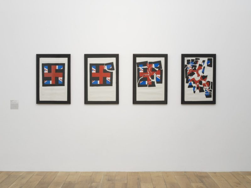 Eddie Chambers, Destruction of the National Front, 1979–80. Exhibition view, The Place Is Here, Nottingham Contemporary, 2017. Courtesy of Tate: Presented by Tate Members 2013. Photo Andy Keate.'