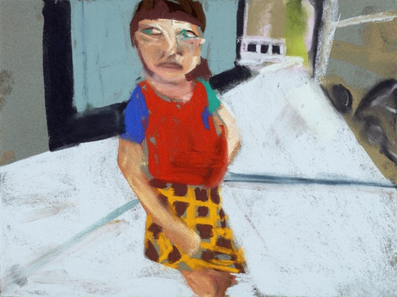 Esme in N.Y.C, 2015. Pastel on paper board, 30 x 40 cm. Courtesy of the artist and Victoria Miro