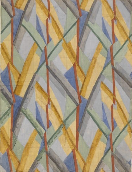 Vanessa Bell 1879–1961, Design for Omega Workshops Fabric, 1913, Watercolor, gouache, and graphite on paper, Image: 53.3 × 40.7 cm, Yale Center for British Art, Paul Mellon Fund. 3353 - B1992.14.2 © The Estate of Vanessa Bell, courtesy of Henrietta Garnett