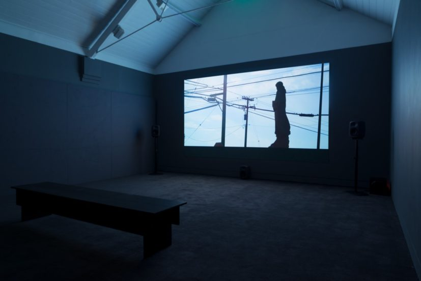 Installation view – Patrick Hough, And If In A Thousand Years, 2017. Commissioned for Jerwood/FVU Awards 2017: Neither One Thing or Another, supported by Jerwood Charitable Foundation and Film and Video Umbrella. Image: Anna Arca.