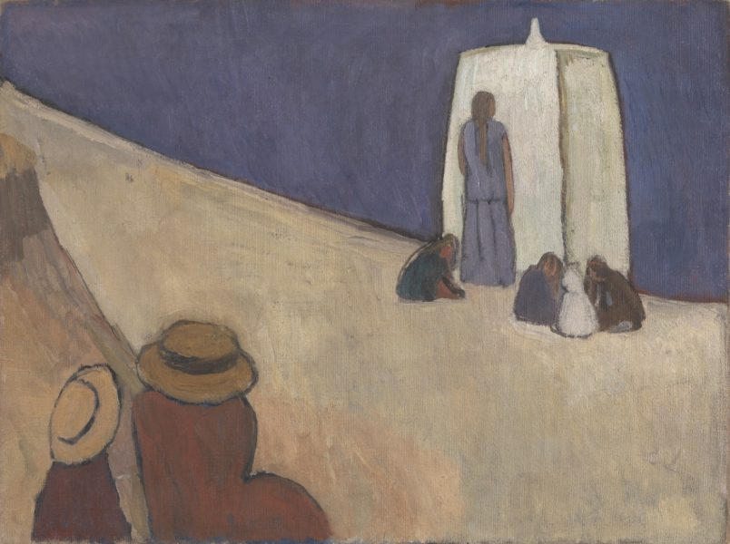 Vanessa Bell, Studland Beach. Verso: Group of Male Nudes by Duncan Grant, c. 1912. Oil on canvas, 76.2 x 101.6 cm. Tate: Purchased 1976. © The Estate of Vanessa Bell, courtesy of Henrietta Garnett. Photo credit: © Tate, London 2016.