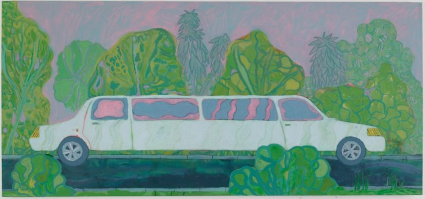 Tyson Reeder, White Limo, 2015. Oil and graphite on canvas, 53 x 69 inches. Courtesy of the artist and Canada Gallery