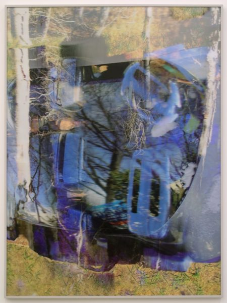 Willy Le Maitre, blue poles coupe, 2016. 3D lenticular print, 64 x 48 inches (framed). Courtesy of the artist and Canada Gallery