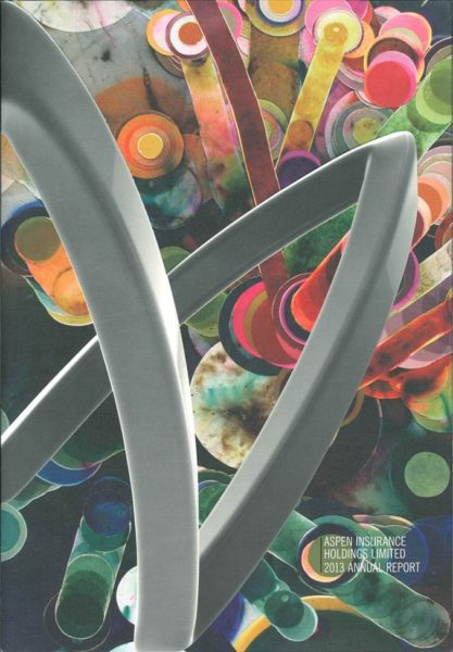 Cover of Aspen Annual Report 2013, featuring Firework Drawing #21, 2008, Rosemarie Fiore