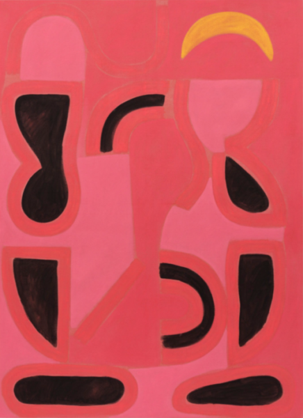 John Finneran, Pink Bones, 2016. Oil and crayon on linen, 187.96 x 137.16 cm. Courtesy of the artist and 47 Canal